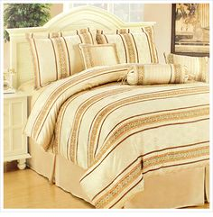 8/6/2012 Sweet Dreams Collection  $44.99  + FREE SHIPPING Bellissima 7-Piece 100% Brushed Microfiber Jacquard Chenille Comforter Set by Mantex in King or Queen