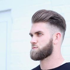 Bryce-Harper-Haircuts - Men's style, accessories, mens fashion trends 2020 Mens Hairstyle Images, Mohawk Hairstyles Men, Unique Hairstyles, Celebrity Haircuts, Haircuts For Men, Baseball Haircuts, Baseball Guys, Bryce Harper Haircut, Medium Beard Styles