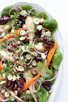 Carrot and Parsnip Salad with Tahini and Roasted Garlic Dressing