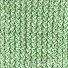 Corn Rib with needles, Knitting Patterns Chart, Rib Stitches Patterns (Rib Knit)