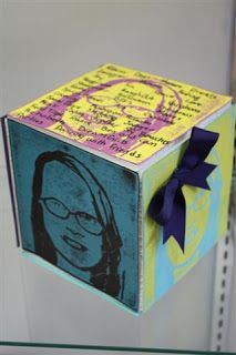 """The Calvert Canvas: Adventures in Middle School Art!: YouCube...I'm thinking of using this at the beginning of the year as a """"getting to know you"""" activity.  Students make a """"YouCube"""" about themselves; they'd look cool stacked around the room or even hanging from the ceiling."""