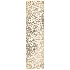 @Overstock.com - Paradise Leopard Cream Viscose Rug (2' 2 x 8') - This cream runner rug features a unique animal pattern to capture your guests' attention. With vibrant panels of brown and cream to complement your decor, this modern rug showcases a premium-quality viscose construction to ensure a soft texture.  http://www.overstock.com/Home-Garden/Paradise-Leopard-Cream-Viscose-Rug-2-2-x-8/7647572/product.html?CID=214117 $61.05