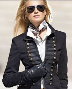 Ralph Lauren, Military inspired jacket....can never go wrong with a military jacket....