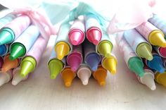 Cute favor for a toddler birthday party-Give to parents after the party or give to the kids with something to color while your child opens their gifts.