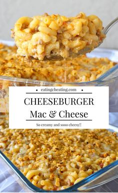 Cheeseburger Mac and Cheese! This recipe for cheeseburger mac and cheese sounds so amazing! For all cheese lovers this is a great idea! Combine ground meat and mac and cheese and you get cheesy heaven! Ground Beef Mac And Cheese Recipe, Hamburger Mac And Cheese, Mac And Cheese Burger, Macaroni And Cheese Casserole, Baked Mac And Cheese Recipe, Easy Mac And Cheese, Macaroni Cheese Recipes, Cheesy Recipes, Ground Beef Recipes