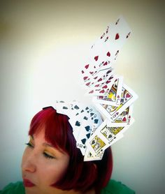 Custom Alice In Wonderland Deck Of Cards Hat by ChefBizzaro, $65.00