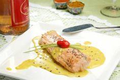 Receita de salmão com mostarda light