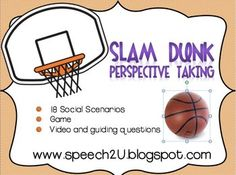 This FREEBIE download focuses on teaching identifying emotions, perspective taking and social problem solving using social scenarios.  Students are asked to define other's emotions or thoughts in a basketball themed activity. This download is appropriate for Speech language pathologists, Social skills groups or Special educations working with students with Autism Spectrum disorders.
