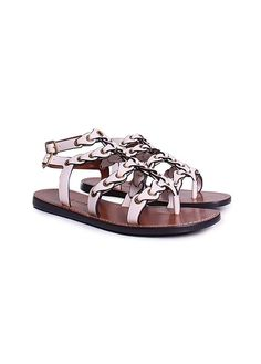 151240cb578 Lead with legendary styling in the iconically edgy COACH® Gladiator Strap  Sandal. Leather lining and insole.