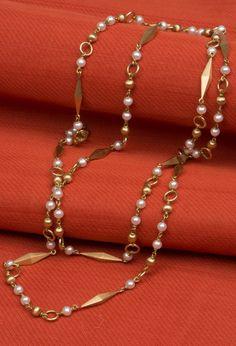 Malini Pearl Long Chain - Jewellery / All Jewellery - Parisera