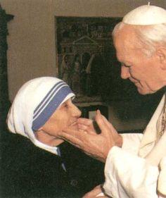 Pope John Paul ll & Mother Teresa