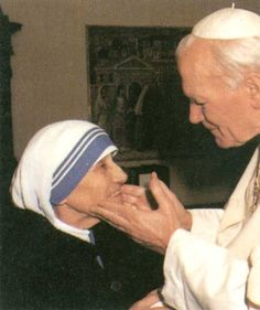 Pope John Paul II and Mother Theresa