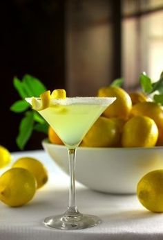 Lemondrop Martini  Ingredients 1 ounce, fluid Vodka 1 ounce, fluid Limoncello 1 ounce, fluid Simple Syrup ½ whole Juiced Lemon  Preparation Instructions ~Fill a martini shaker with ice ~Add all ingredients ~Shake for 10-15 seconds or until shaker is ice cold on the outside ~Sugar the rim of a chilled martini glass, and garnish with a lemon