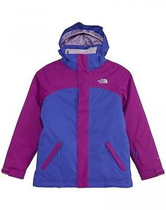 North Face Abbit Triclimate Kids CSA3-BDZ Purple Blue Jacket Girls Youth Size L