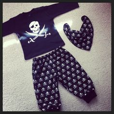 Pirate trousers, top and bib.