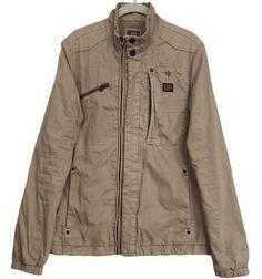G-STAR RAW Mens Dean Overshirt Jacket Khaki Size S #GStarRaw #BasicJacket