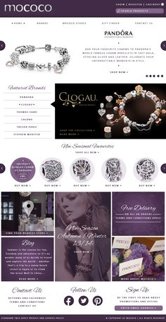 Mock up web design for Mococo jewelry ecommerce website