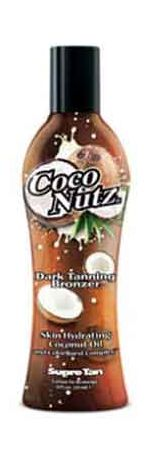 You will go absolutely koo-koo with dark golden color when you use Coco Nutz! Supre Coco Nutz - natural streak free bronzer, This Dark Tanning Product Bronzer provides insanely rich color while hydrating Coconut Oil conditions and locks in moisture. With mad color and skin so sweet this Natural Bronzer is what your skin will go crazy for.