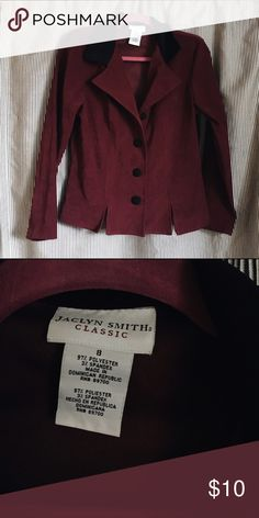 Maroon Retro Blazer Perfect for work / MAKE AN OFFER Jaclyn Smith Jackets & Coats Blazers