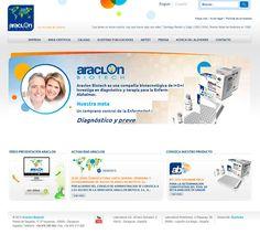 Diseño web para la compañía biotecnológica Araclon Biotech.  http://www.araclon.com/