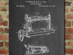 Sewing Machine Patent  - www.eklectica.in #eklectica