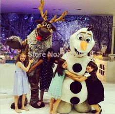 Ohlees Fast Free Shipping sven mascot costume party birthday cosplay accept customize