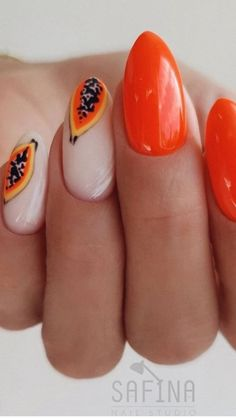 Get Nails, How To Do Nails, Hair And Nails, Long Round Nails, Fruit Nail Art, Oval Nails, Garra, Nail Manicure, Simple Nails