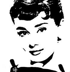 """Audrey Hepburn"" painting by Shon Hudspeth www.shonsart.com #art #AudreyHepburn #Audrey #ShonHudspeth #shonsart"