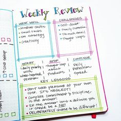 The #keylessons section on my weekly review is my favorite part.  I'm finding that writing them down helps me remember and is helping me make some needed mindset shifts. Bullet Journal