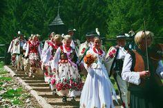 Polish folk highland wedding