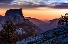 Half Dome and Yosemite at Dusk