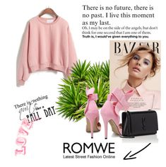 """""""T 0002 Romwe"""" by silvijo ❤ liked on Polyvore featuring Yves Saint Laurent"""