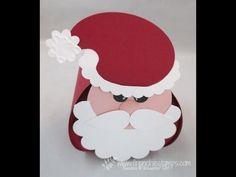 Stamp & Scrap with Frenchie: Punch Art Santa on Curvey Keepsake box