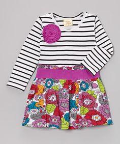 Love this White & Red Birds In the Garden Dress - Toddler & Girls on #zulily! #zulilyfinds