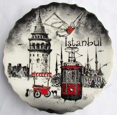 Acrilic Paintings, Istanbul City, Alhamdulillah, Ceramic Plates, Ottoman, Mandala, Moon, Ceramics, Drawings