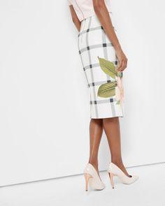 Secret Trellis pencil skirt - White | Skirts & Shorts | Ted Baker