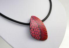 necklace, fimo, Statment Kette, Kunst aus Polymer clay von Künstler-Perlen und Schmuck aus Polymer clay und Fimo auf DaWanda.com