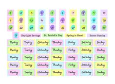 Printable Easter Date Covers for the Erin Condren vertical and similar.