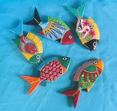 Wooden fish from Guerrero by Teyacapan, via Flickr