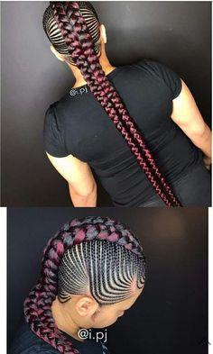 85 Box Braids Hairstyles for Black Women - Hairstyles Trends Box Braids Hairstyles For Black Women, Black Girl Braids, Braided Hairstyles Tutorials, African Braids Hairstyles, Braids For Black Hair, Girl Hairstyles, Braid Hairstyles, Quick Hairstyles, Braided Mohawk Black Hair