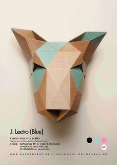 HERO Collection // Cardboard Trophies Handmade Design by Julie Rousseau // www.paperbeast.be
