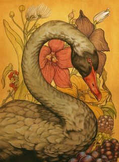 hyperealism:  mydarkenedeyes:  Black Swan by Jason Mowry  Black swans are so regal, even more than white ones.      Not sure if this is a quilt or not, it doesn't say...but it sure is beautiful!