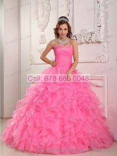 798eac1ac66 Best Quinceanera Dresses Shop offers Ruffled Layers Beaded Flowers Rose  Pink Quinceanera Ball Gown price under ball gowns rose pink color