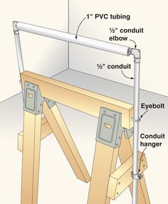 Add an adjustable outfeed roller to your sawhorse    http://www.woodmagazine.com/woodworking-plans/homemade-tools/add-an-adjustable-outfeed-roller-to-your-sawhorse/