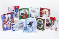 Make these cards with the free Traditional Christmas craft papers by Hunkydory Crafts free in your December edition of Making Cards magazine.  www.makingcardsmagazine.com Hunkydory Crafts, Craft Free, Christmas Traditions, Free Gifts, Craft Papers, Christmas Crafts, December, Card Making, Paper Crafts