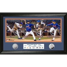 New York Mets Highland MintAces Silver Coin Panoramic 12'' x 20'' Photomint - $99.99