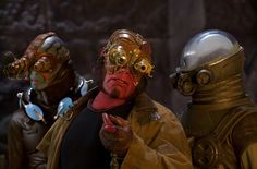 Matt's Guillermo del Toro retrospective continues with a look back at Hellboy II: The Golden Army starring Ron Perlman, Selma Blair, and Doug Jones. Hellboy Movie, Steampunk Movies, Steampunk Fashion, Kung Fury, Steampunk Motorcycle, Golden Army, Roman, Ron Perlman, New Nightmare