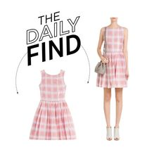"""""""Daily Find: Marc by Marc Jacobs Gingham Dress"""" by polyvore-editorial ❤ liked on Polyvore featuring Marc by Marc Jacobs and DailyFind"""