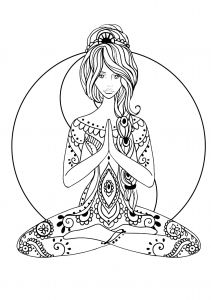 Total relaxation with these complex Zen and anti-stress Coloring pages for adults. Inspired by nature or completely surreal, these drawings differ from mandalas because they are not concentrated on a single point. Mandala Coloring Pages, Coloring Book Pages, Printable Coloring Pages, Meditation Art, Yoga Art, Mandala Nature, Art Sketches, Art Drawings, Relaxing Art