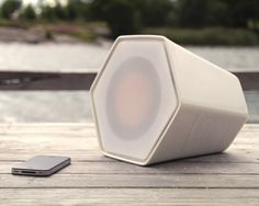 UNMONDAY, 4.3L CERAMIC AIRPLAY SPEAKER: really rad kickstarter speakers with an equally cool leather case.